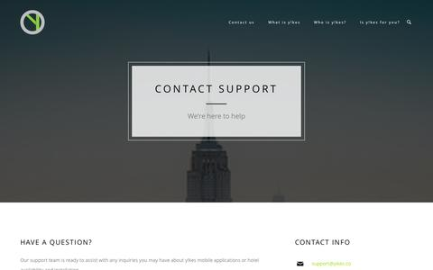 Screenshot of Support Page yikes.co - Support | yikes - captured Nov. 5, 2014