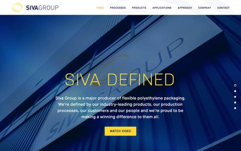 Screenshot of Home Page sivagroup.co.uk - SIVA Group | Polythene Packaging Manufacturers | Flexible Packaging - Siva Group - captured July 18, 2018