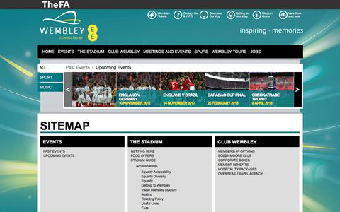 Screenshot of Site Map Page wembleystadium.com - Sitemap | Wembley Stadium - captured Oct. 24, 2017