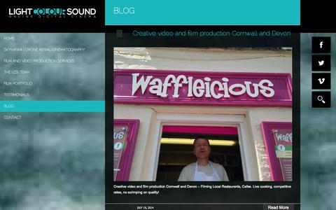 Screenshot of Blog lightcoloursound.co.uk - Blog - Light Colour Sound - captured Sept. 30, 2014