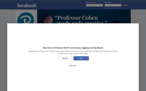 Screenshot of Facebook Page facebook.com - Pearson North America - Home | Facebook - captured April 18, 2017