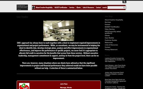 Screenshot of Case Studies Page chaconsulting.net - Case StudiesFood Service Consulting - captured Oct. 3, 2014
