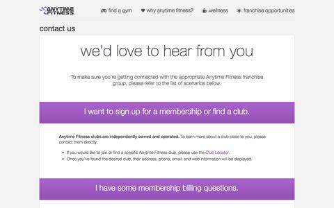 Screenshot of Contact Page anytimefitness.com.au - Contact Us | Anytime Fitness AU - captured Oct. 30, 2014