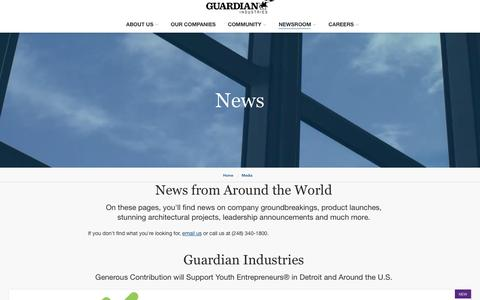 Screenshot of Press Page guardian.com - News Listing - captured March 5, 2019