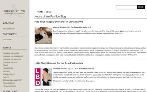 Screenshot of Blog houseofwu.com - House of Wu Fashion Blog - captured July 16, 2016