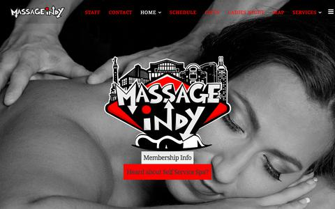 Screenshot of Home Page massageindy.com - Massage Therapy in Indianapolis Massage Therapists Fishers Indy - captured June 10, 2017