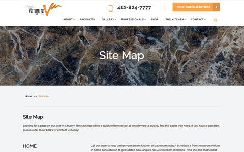 Screenshot of Site Map Page vangura.com - Getting Difficult To Locate Our website Pages? Read Our Sitemap - captured Dec. 20, 2018