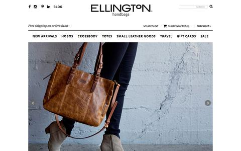 Screenshot of Home Page ellingtonhandbags.com - Shop Ellington Handbags | Ellington Handbags - captured Dec. 8, 2015