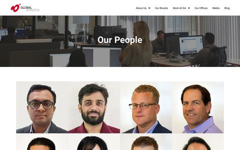Screenshot of Team Page global-analytics.com - Our People | Global Analytics - captured May 9, 2017