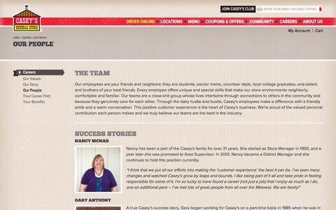 Screenshot of Team Page caseys.com - Our People | Casey's General Store - captured Dec. 16, 2016