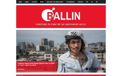 Screenshot of Press Page ballinpr.com - News - captured Dec. 29, 2015