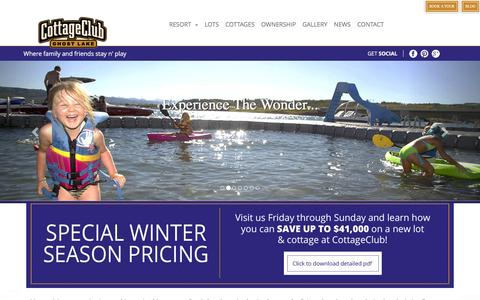 Screenshot of Home Page cottageclub.ca - Welcome To Cottage Club - captured Dec. 12, 2015