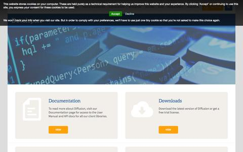 Screenshot of Developers Page pushtechnology.com - Learn more about Push Technology from our development team - captured Sept. 23, 2014