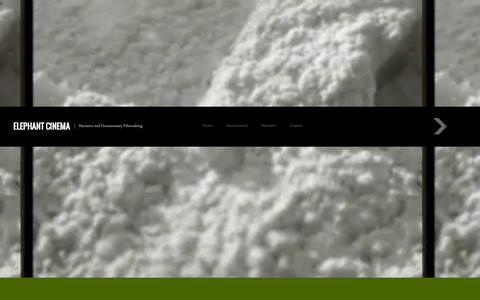 Screenshot of Home Page elephantcinema.net - ELEPHANT CINEMA | Narrative and Documentary Filmmaking - captured Oct. 2, 2014
