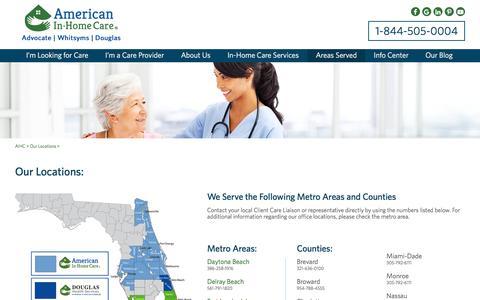 Service Area - Home Care Assistance Florida