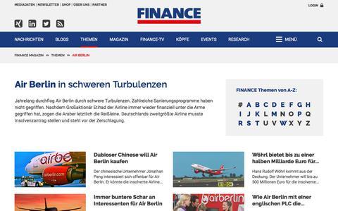 Air Berlin-FINANCE Magazin