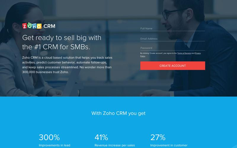 CRM software, customer relationship management - Zoho CRM