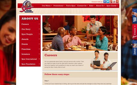 Screenshot of Jobs Page spur.co.za - Careers - captured Sept. 22, 2014