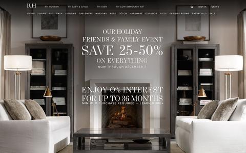 Screenshot of Home Page restorationhardware.com - RH - captured Dec. 4, 2015