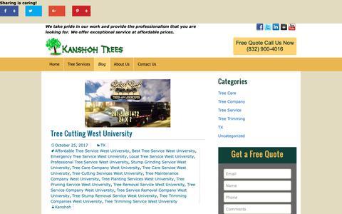 Screenshot of Blog kanshohtrees.com - Blog   Kanshoh Trees Houston TX - captured Oct. 14, 2018