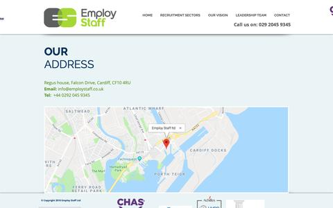 Screenshot of Maps & Directions Page employstaff.co.uk - employ-new-start | MAP - captured Dec. 8, 2018