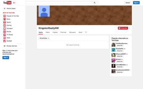 Screenshot of YouTube Page youtube.com - KingstonRealtyNW  - YouTube - captured Oct. 23, 2014
