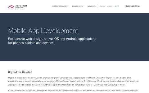 Screenshot of Services Page astonishdesign.com - Mobile App Development and Responsive Web Design - captured Sept. 19, 2014