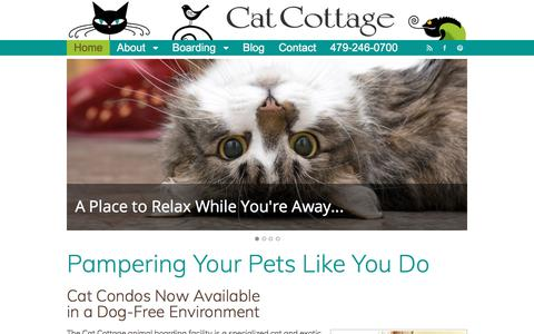 Screenshot of Home Page Terms Page catcottage.net - Home - Cat Cottage - captured July 16, 2018