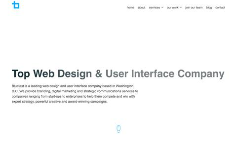 Top Web Design & User Interface Company | Bluetext
