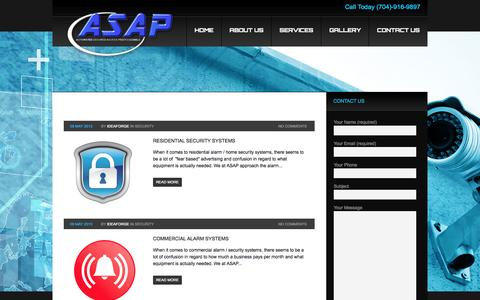 Screenshot of Blog asapcarolinas.com - Automated Secured Access Professionals | Charlotte NC | Security Systems Charlotte NC - captured Oct. 4, 2014