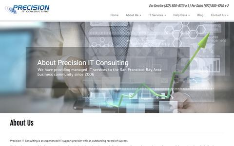 Screenshot of About Page precisionitconsulting.com - Bay Area Experienced IT Firm - Precision IT Consulting - captured May 20, 2017