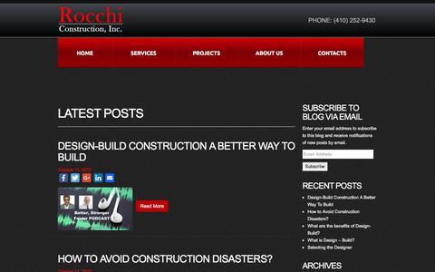 Screenshot of Blog rocchiusa.com - Welcome To Rocchi Construction, Inc. - Just another WordPress site - captured Nov. 13, 2017