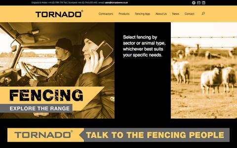 Screenshot of Home Page tornadowire.co.uk - Home | Tornado Wire | Agricultural Fencing - captured Aug. 13, 2015