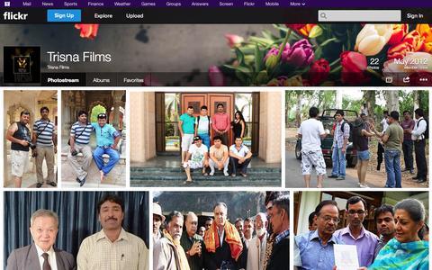 Screenshot of Flickr Page flickr.com - Flickr: Trisna Films' Photostream - captured Oct. 26, 2014