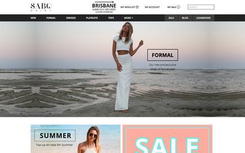 Screenshot of Home Page saboskirt.com - SABO SKIRT - captured Sept. 19, 2014