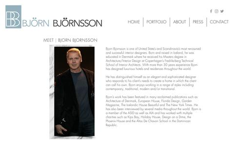 Screenshot of About Page bjornbjornsson.com - Bjorn Bjornsson Interior Design   About Us - captured Oct. 6, 2018