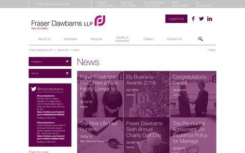 Screenshot of Press Page fraserdawbarns.com - News - Fraser Dawbarns LLP - captured Oct. 11, 2018