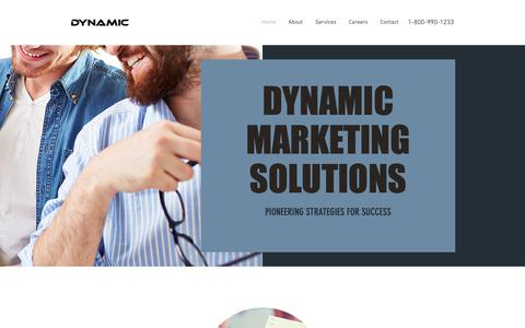 Screenshot of Home Page dynammarketing.com - Home | Dynamic Marketing Solutio - captured Oct. 9, 2018