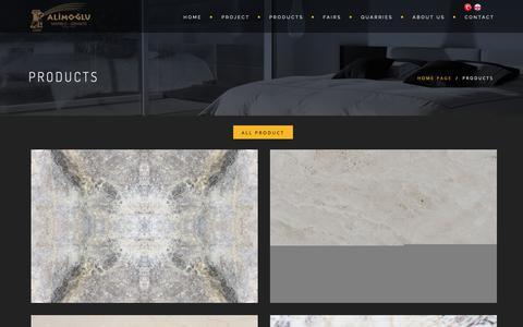 Screenshot of Products Page alimoglu.com - Alimoğlu - captured Oct. 2, 2018
