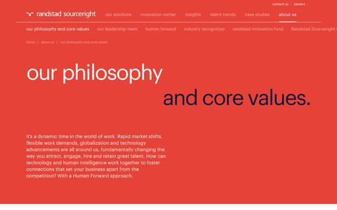 Our Philosophy & Core Values | Randstad Sourceright