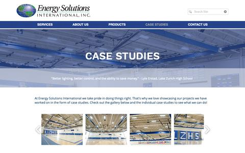 Screenshot of Case Studies Page esilighting.com - ESI Lighting   CASE STUDIES - captured Oct. 19, 2018