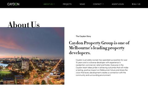 Screenshot of About Page caydon.com.au - Caydon Property Group | Melbourne Property Developers - captured Feb. 16, 2018