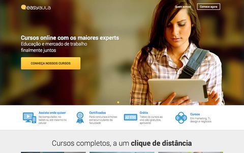 Screenshot of Home Page easyaula.com.br - Easyaula - Videoaulas para quem quer crescer profissionalmente - captured Jan. 14, 2015