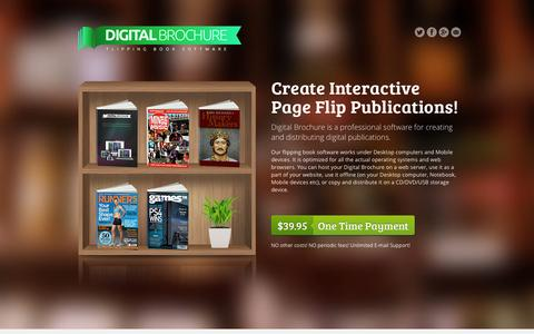Screenshot of Home Page digital-brochure.com - Digital Brochure | Create flipping book, digital brochure, flash page flip magazine - captured Sept. 4, 2015