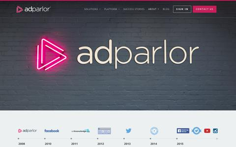 Screenshot of About Page adparlor.com - About | AdParlor - captured Sept. 25, 2015
