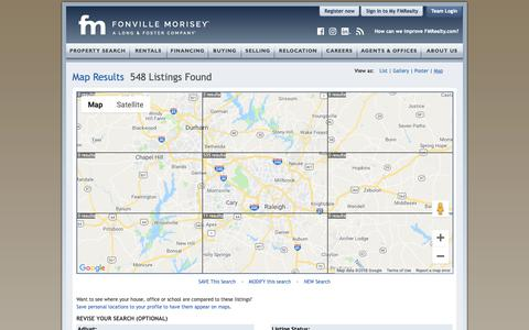 Screenshot of Maps & Directions Page fmrealty.com - Raleigh Durham Real Estate Interactive Map | Fonville Morisey Real Estate - captured Nov. 14, 2018
