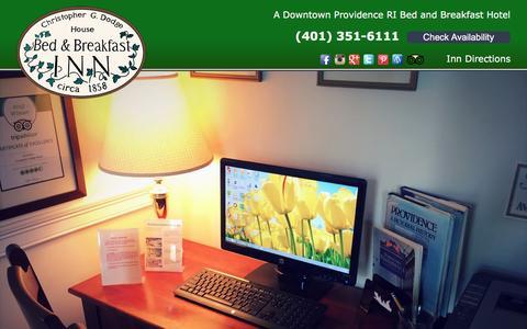 Screenshot of Blog providence-hotel.com - Christopher Dodge House: Our Blog - captured April 21, 2017