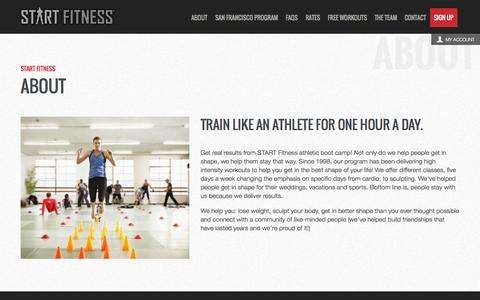 Screenshot of About Page startfitness.com - Start Fitness - captured Sept. 30, 2014