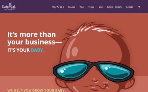 Screenshot of Home Page designatwork.com - Houston Marketing Agency - Branding & Advertising | DesignAt Work - captured May 31, 2018