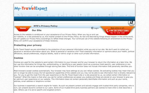 Screenshot of Privacy Page my-travelexpert.com - Privacy Policy - My Travel Expert - captured Sept. 23, 2014